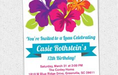 Free Printable Luau Birthday Invitations Templates | Party - Free Printable Luau Baby Shower Invitations