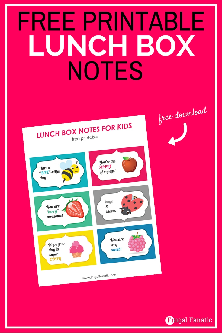 Free Printable Lunch Box Notes - Gear Up For Back To School - Frugal - Free Printable Gears