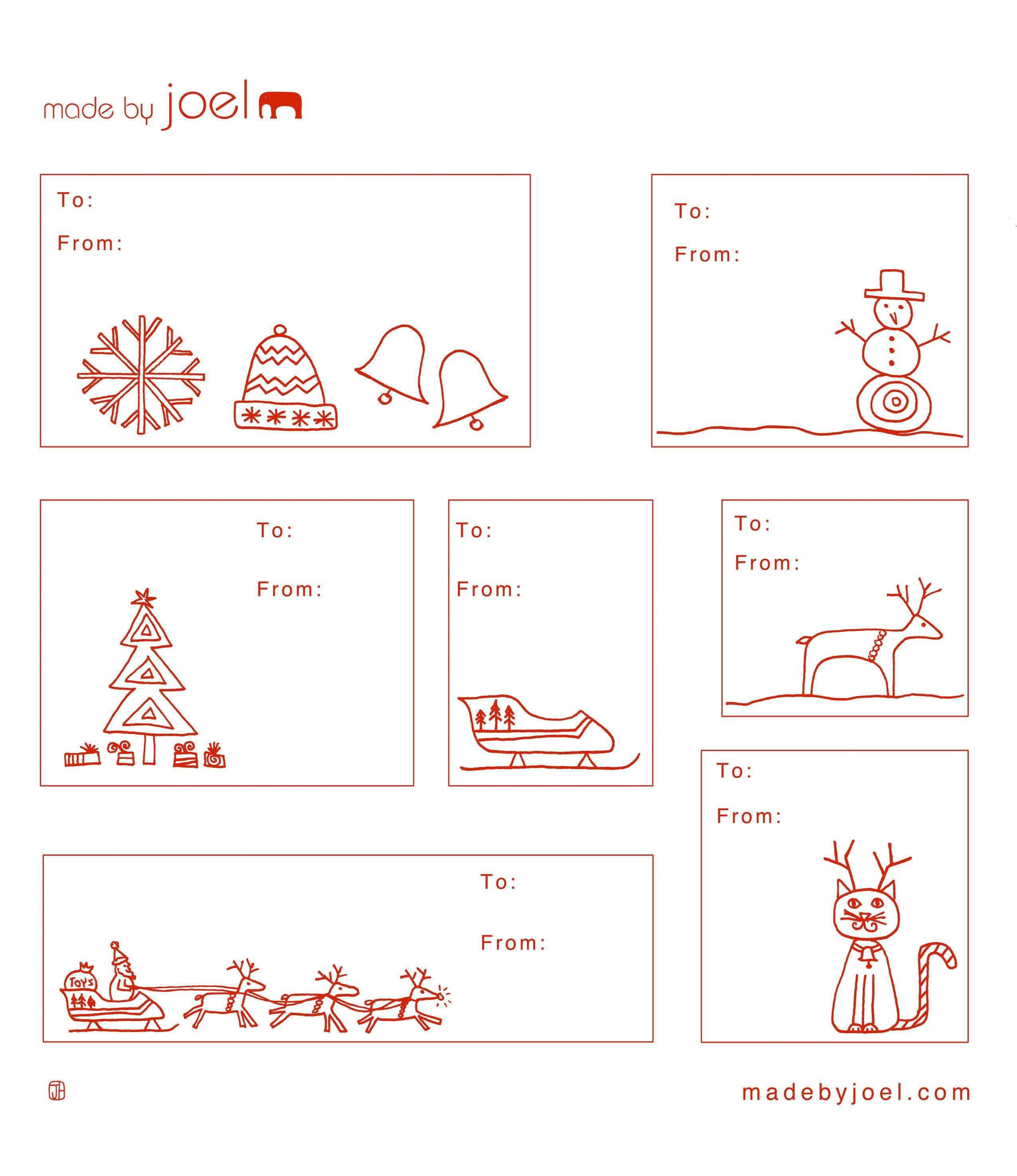 Free Printable: Madejoel » Holiday Gift Tag Templates - Free Printable Blank Gift Tags