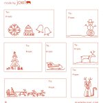 Free Printable: Madejoel » Holiday Gift Tag Templates   Free Printable Gift Tags Templates