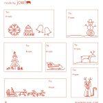Free Printable: Madejoel » Holiday Gift Tag Templates   Free Printable Gift Tags Templates