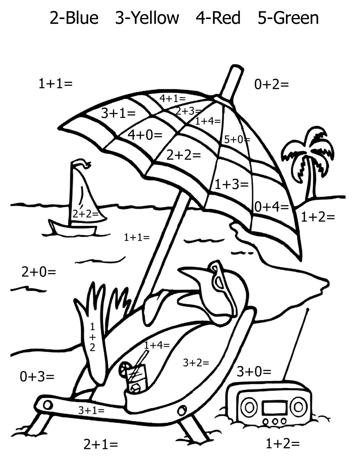 Free Printable Math Coloring Pages For Kids | Kinder Math - Free Printable Math Coloring Sheets