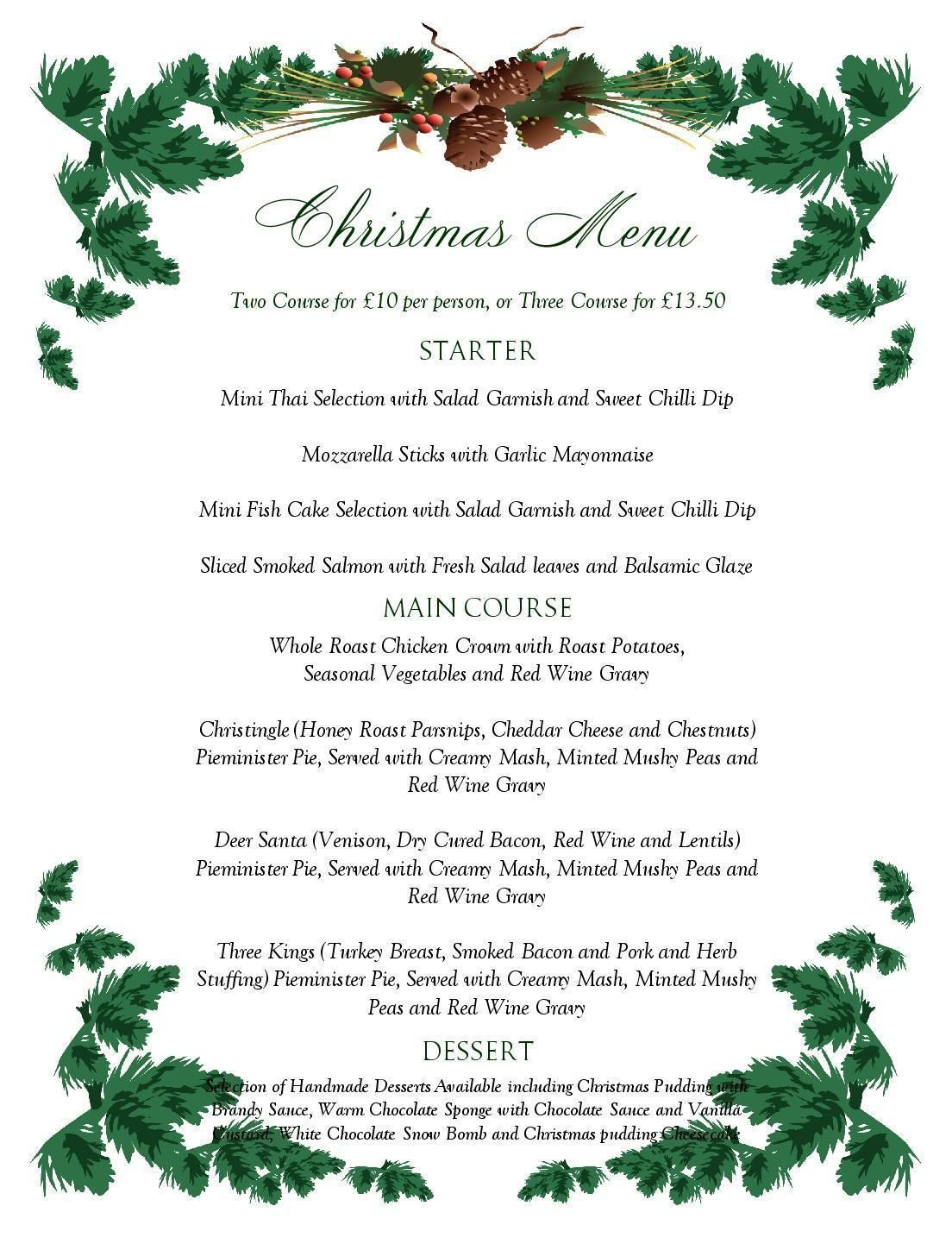 Free Printable Menu Templates Christmas Menu Templates Free Page Not - Free Printable Menu Templates