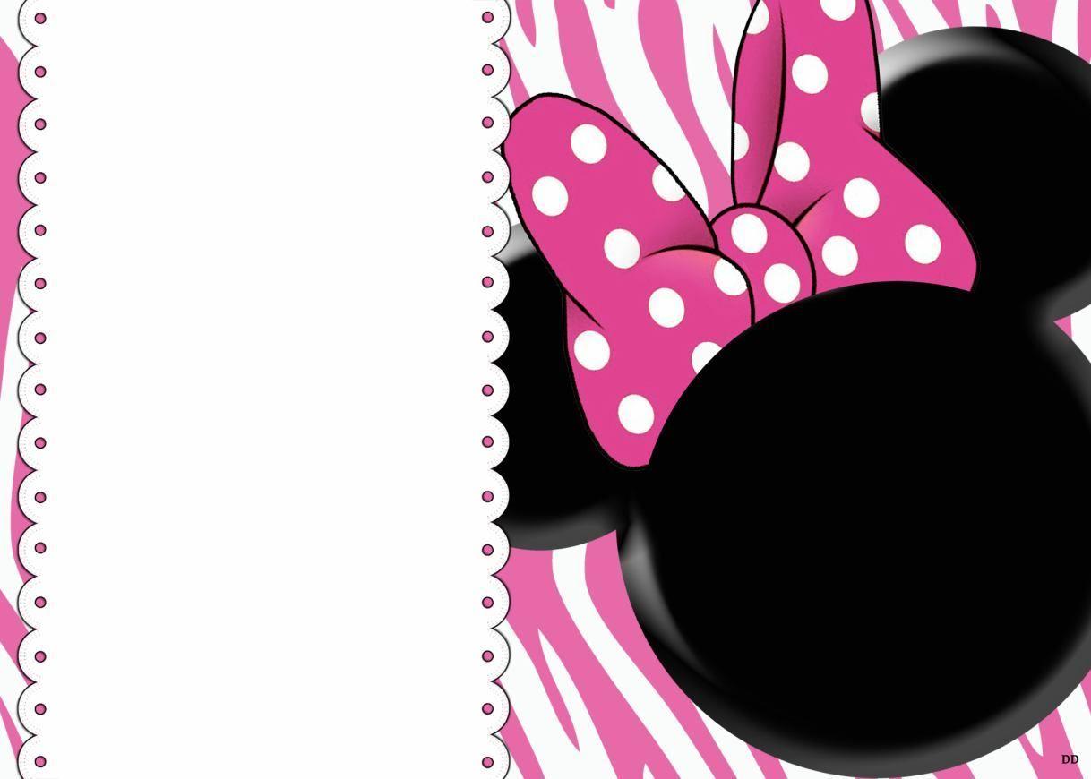 Free Printable Minnie Mouse 1St Birthday Invitation – Bagvania Free - Free Printable Minnie Mouse Invitations