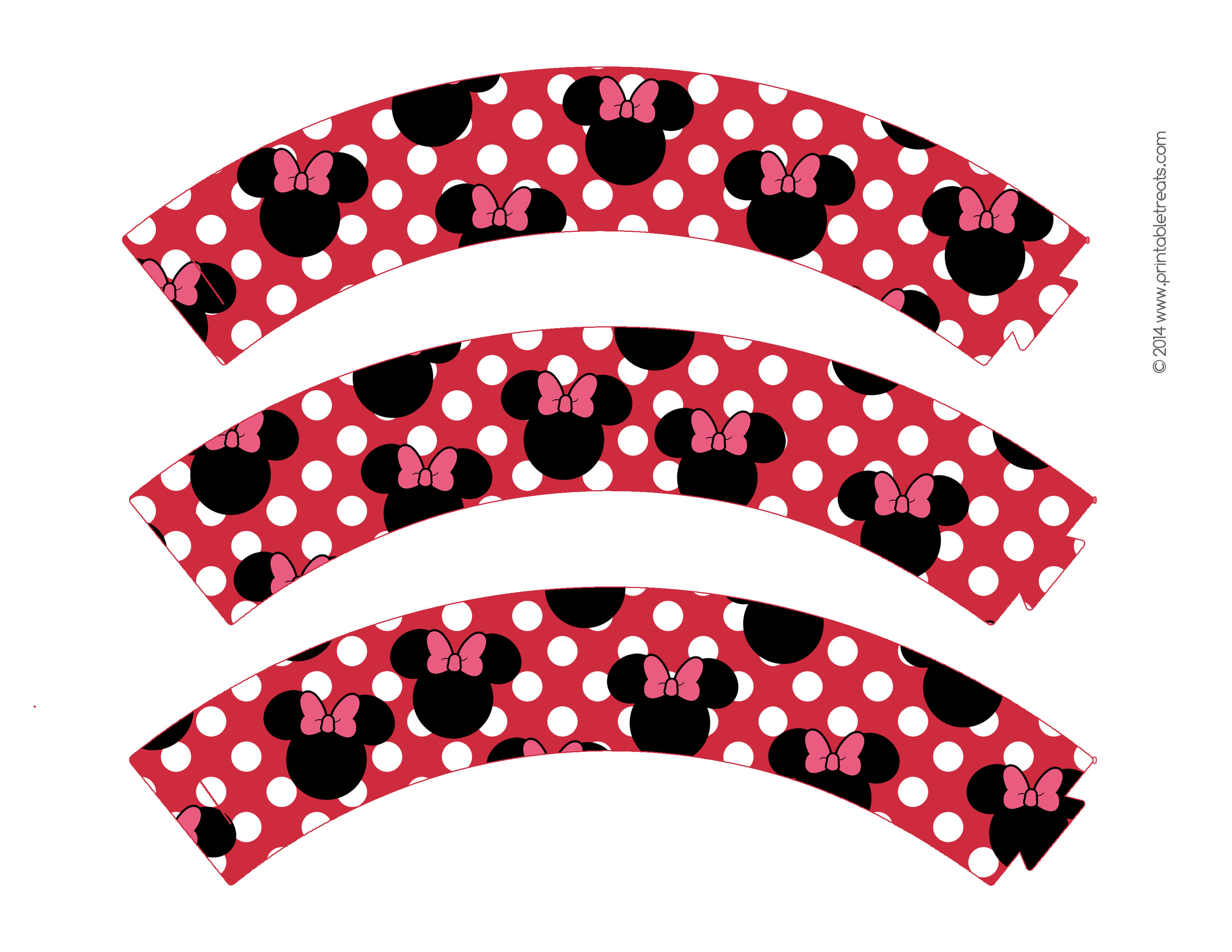 Free-Printable-Minnie-Mouse-Cupcake-Wrappers-1 - Baby No Soucy - Free Printable Minnie Mouse Cupcake Wrappers