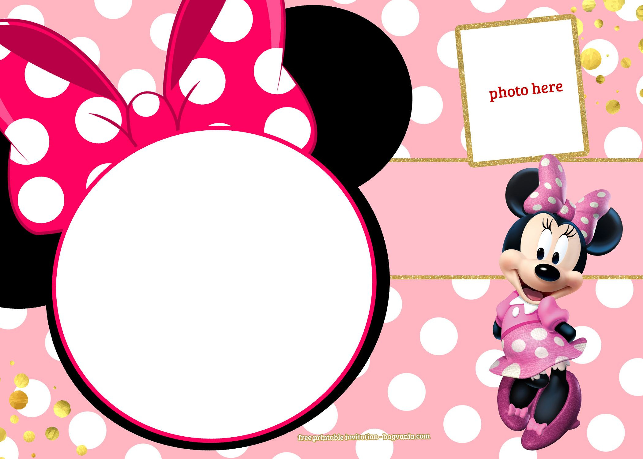 Free Printable Minnie Mouse Pinky Birthday Invitation | Design - Free Minnie Mouse Printable Templates
