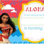 Free Printable Moana Birthday Invitation And Party | Free   Free Moana Printable Invitations