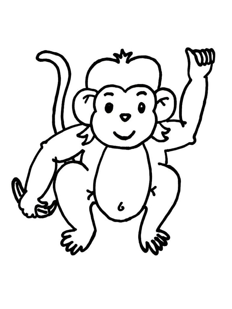Free Printable Monkey Coloring Pages For Kids | Color Pages - Free Printable Monkey Coloring Pages