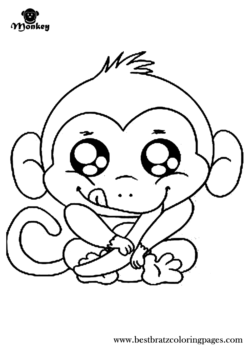 Free Printable Monkey Coloring Pages For Kids | Coloring Book - Free Printable Monkey Coloring Pages