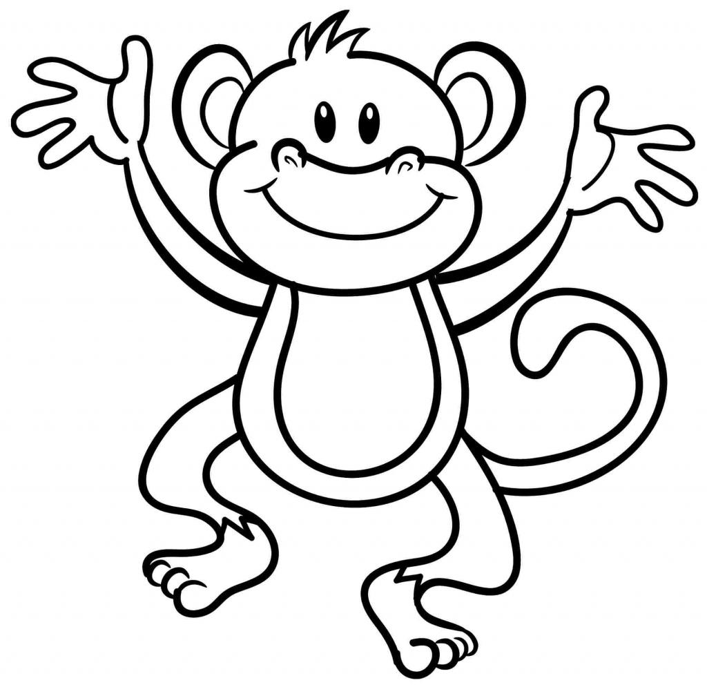 Free Printable Monkey Coloring Sheets   Printable Sheets - Free Printable Monkey Coloring Sheets