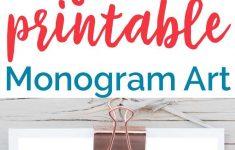 Free Printable Monogram Art | Free Printables | Pinterest | Free - Free Printable Monogram