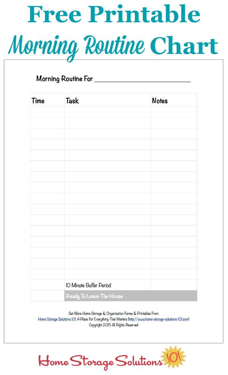 Free Printable Morning Routine Chart {Plus How To Use It} | Pinterest - Free Printable Morning Routine Chart