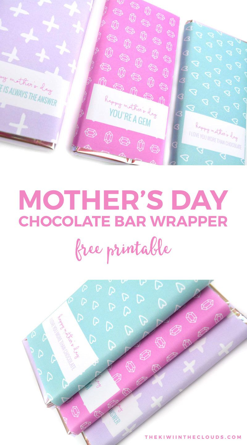 Free Printable Mothers Day Candy Bar Wrappers | Holidays | Candy Bar - Free Printable Chocolate Wrappers