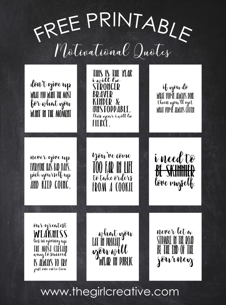 Free Printable Motivational Weight Loss Quotes - Free Printable Quotes For Office