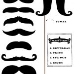 Free Printable Moustache Brigade For #movember | Stacey W. Porter   Free Printable Western Photo Props