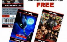 How To Train Your Dragon Birthday Invitations Printable Free