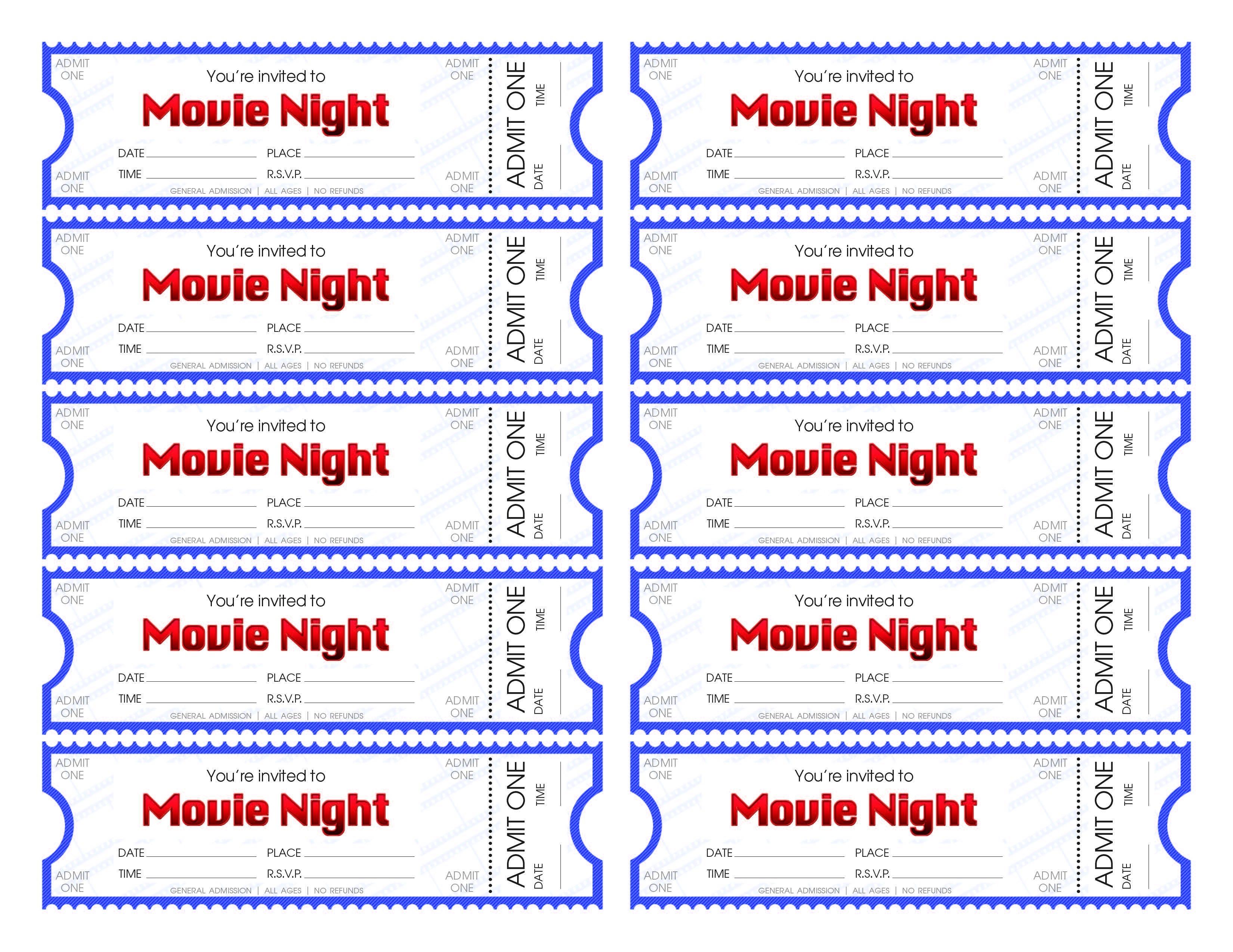 Free Printable Movie Tickets   Bestprintable231118 - Make Your Own Tickets Free Printable