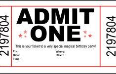 Free Printable Movie Tickets