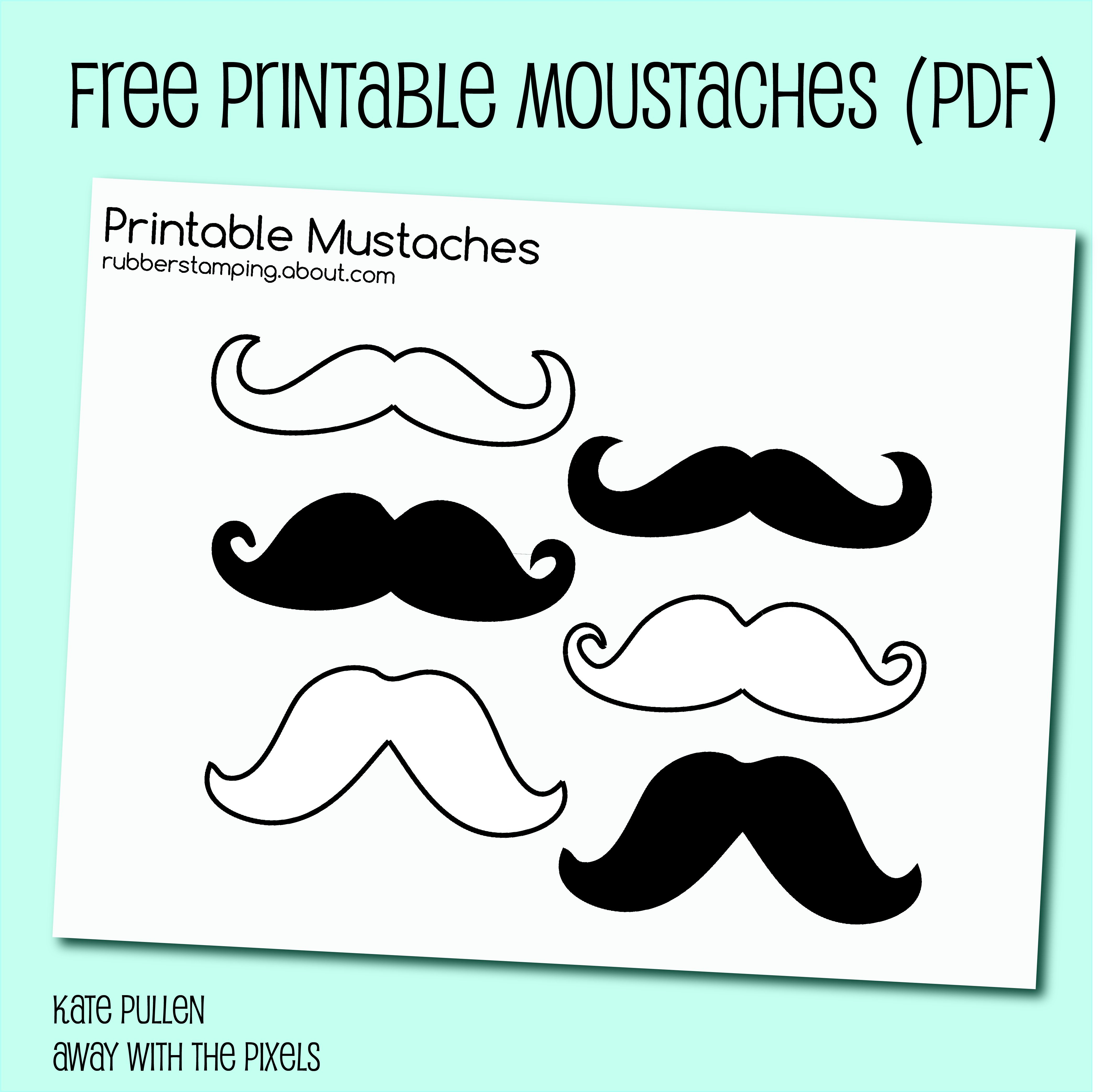 Free Printable Mustache Images - Free Printable Mustache