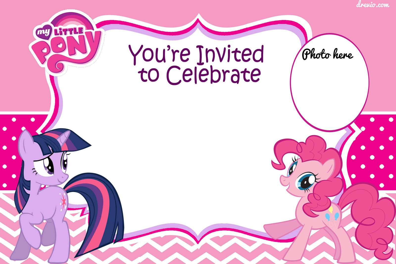 Free Printable My Little Pony Birthday Invitation Template - Free Printable My Little Pony Thank You Cards