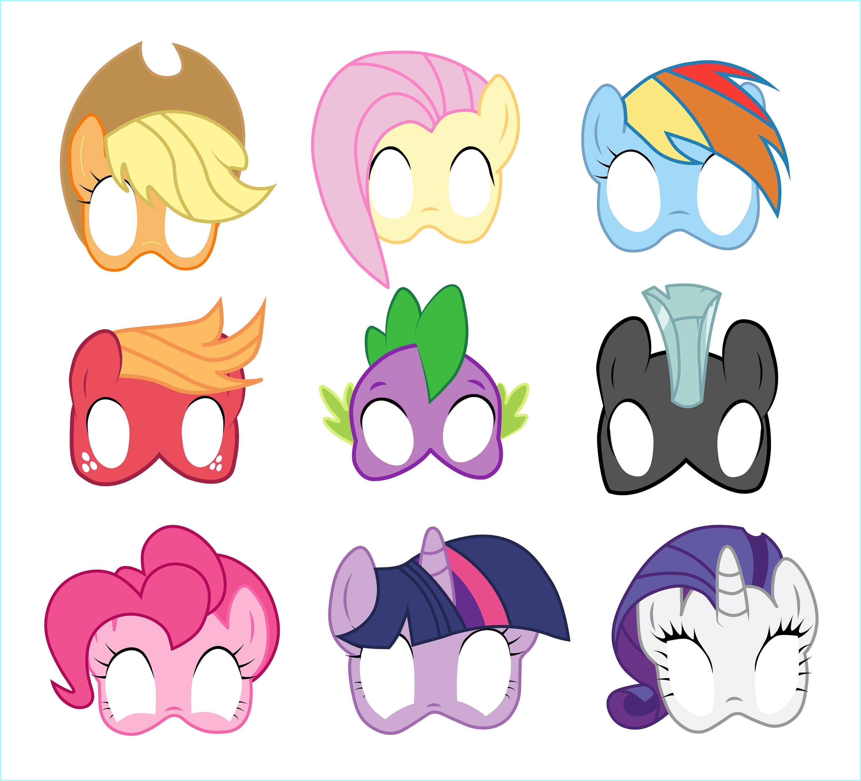 Free Printable My Little Pony Masks - 3.15.kaartenstemp.nl • - Printable 90S Props Free