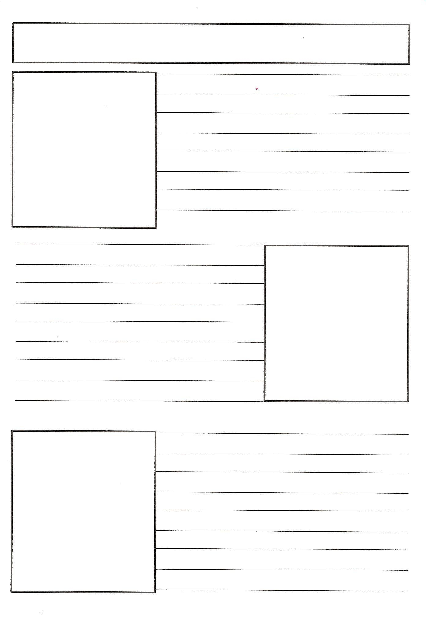 Free Printable Newspaper Article Template – Jowo - Free Printable Newspaper Templates For Students