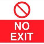 Free Printable No Exit Signs | Free Printable   Free Printable No Entry Sign