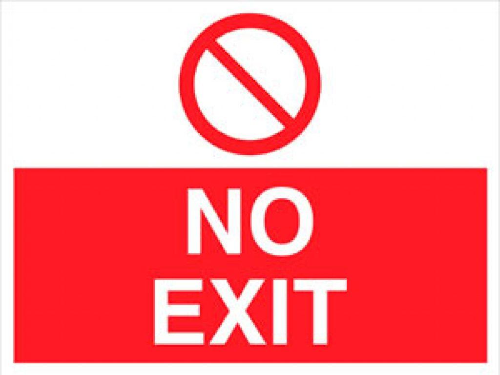 Free Printable No Exit Signs | Free Printable - Free Printable No Entry Sign