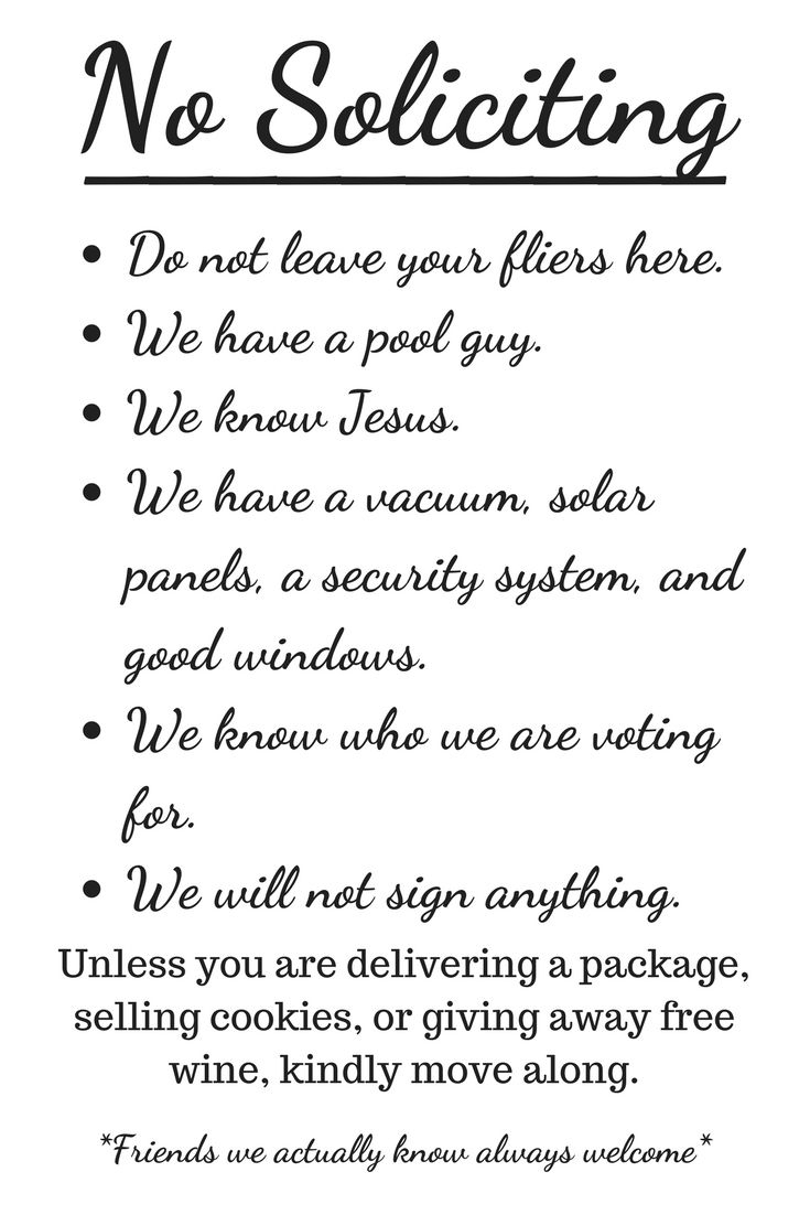 Free Printable No Soliciting Sign | Funny | Pinterest | No - Free Printable No Soliciting Sign