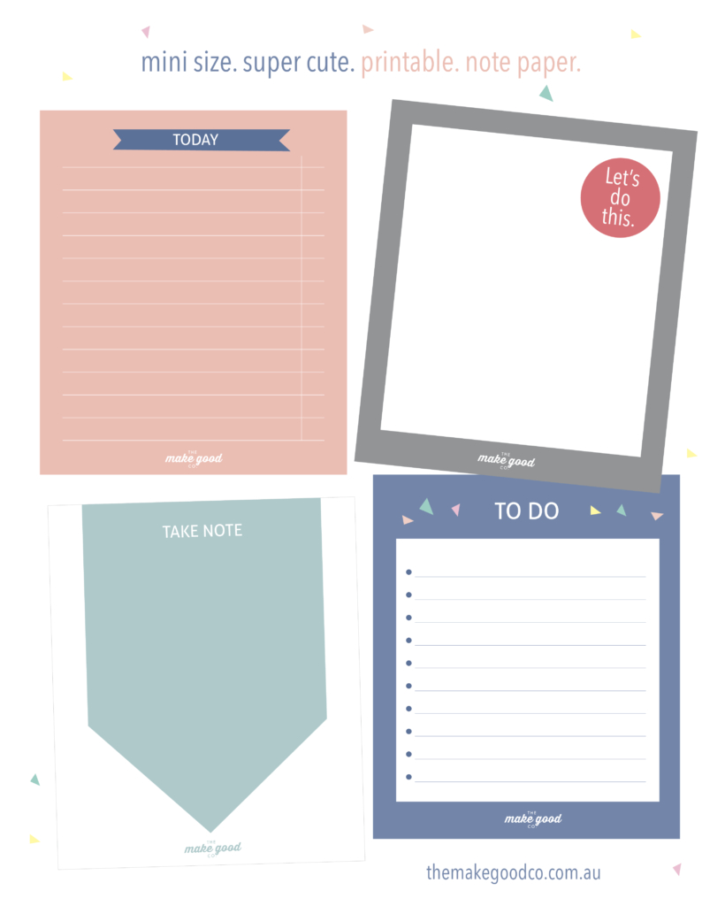 Free Printable Note Paper For Your Planner - Instant Download - Free Printable Australian Notes