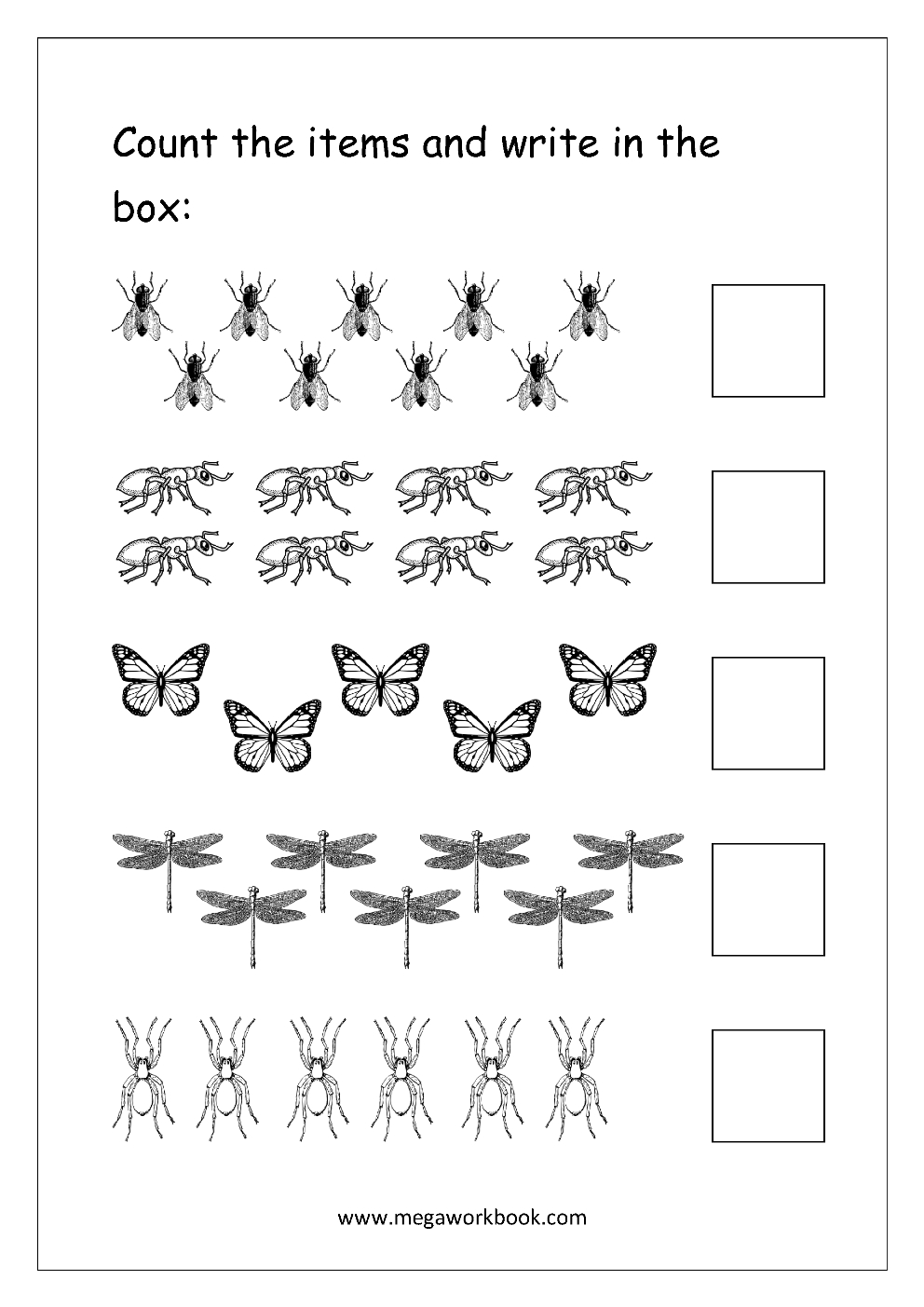 Free Printable Number Counting Worksheets - Count And Match - Count - Free Printable Counting Worksheets 1 20