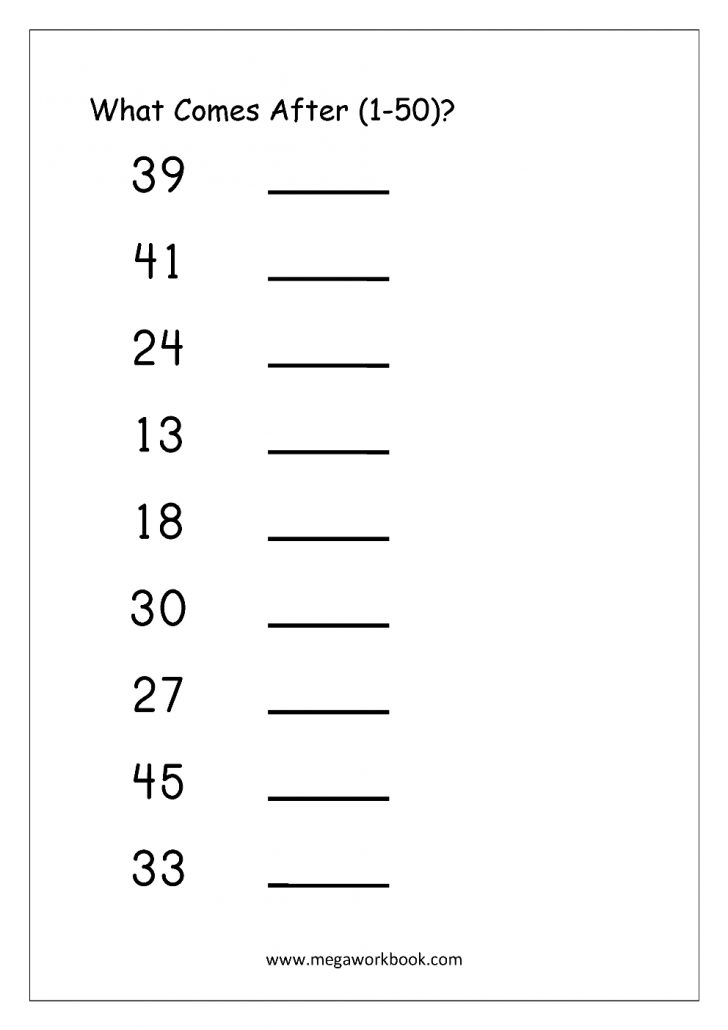 Free Printable Tracing Numbers 1 50