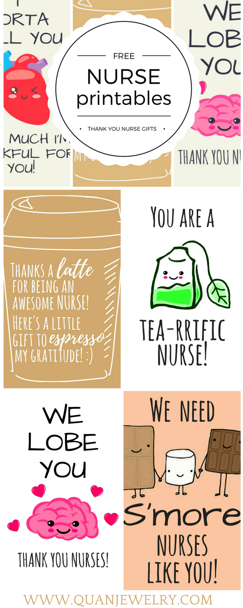 Free Printable Nurse Appreciation Thank You Cards | Gifts For Nurses - Free Printable Funny Thinking Of You Cards
