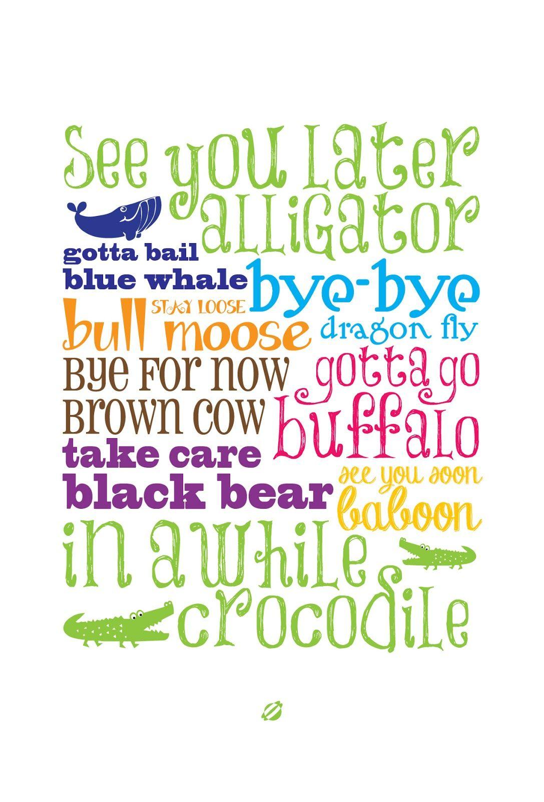 Free Printable Nursery Wall Art ♥ // Lostbumblebee @tabitha - Free Printable Goodbye Cards
