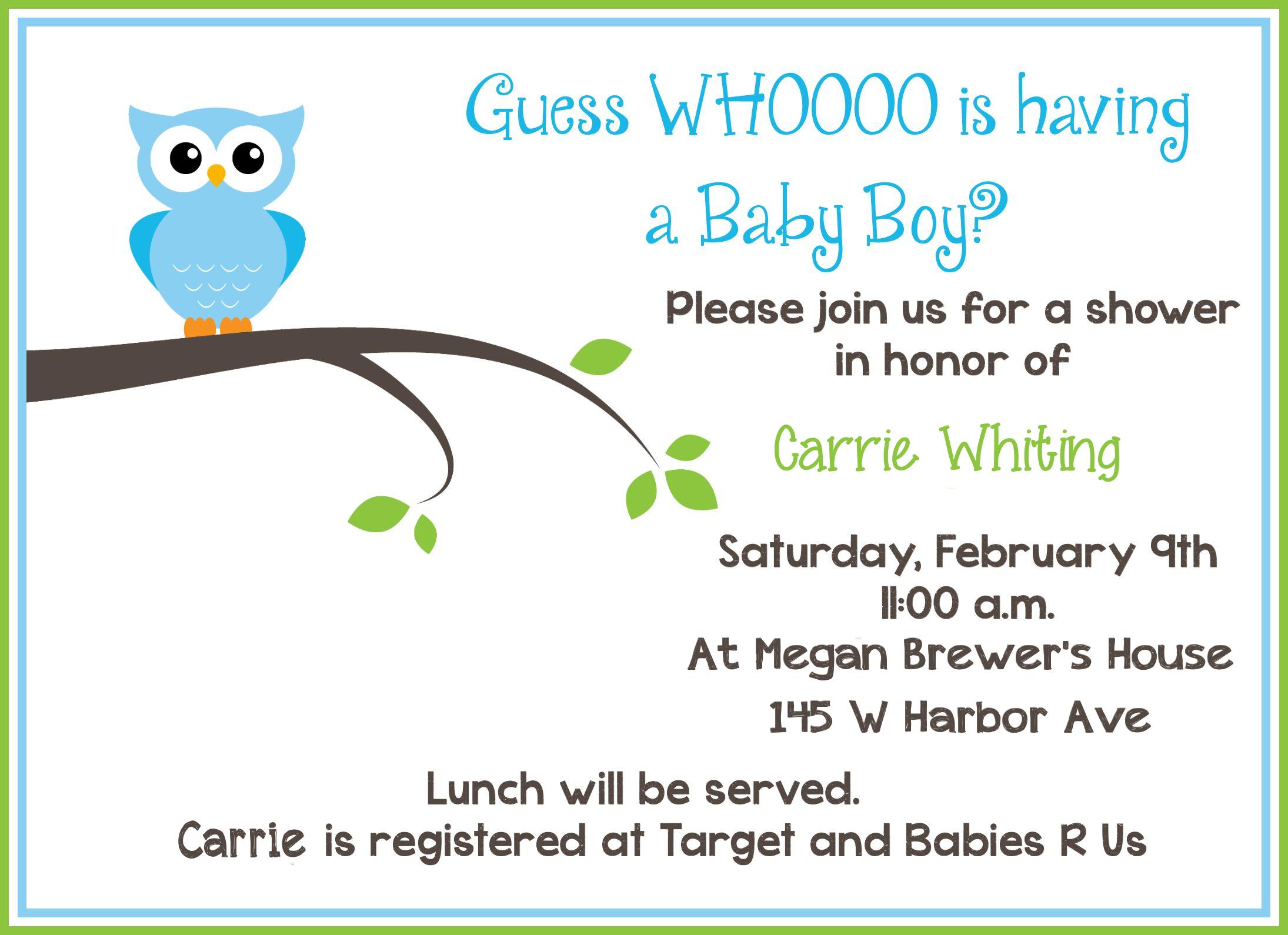 Free Printable Owl Baby Shower Invitations {& Other Printables - Baby Shower Cards Online Free Printable