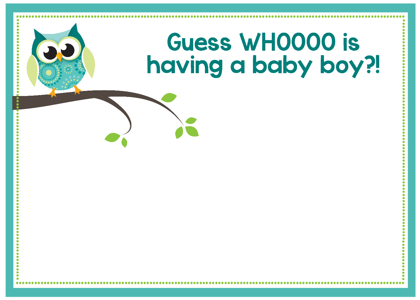 Free Printable Owl Baby Shower Invitations {& Other Printables} - Free Printable Baby Shower Invitations Templates For Boys