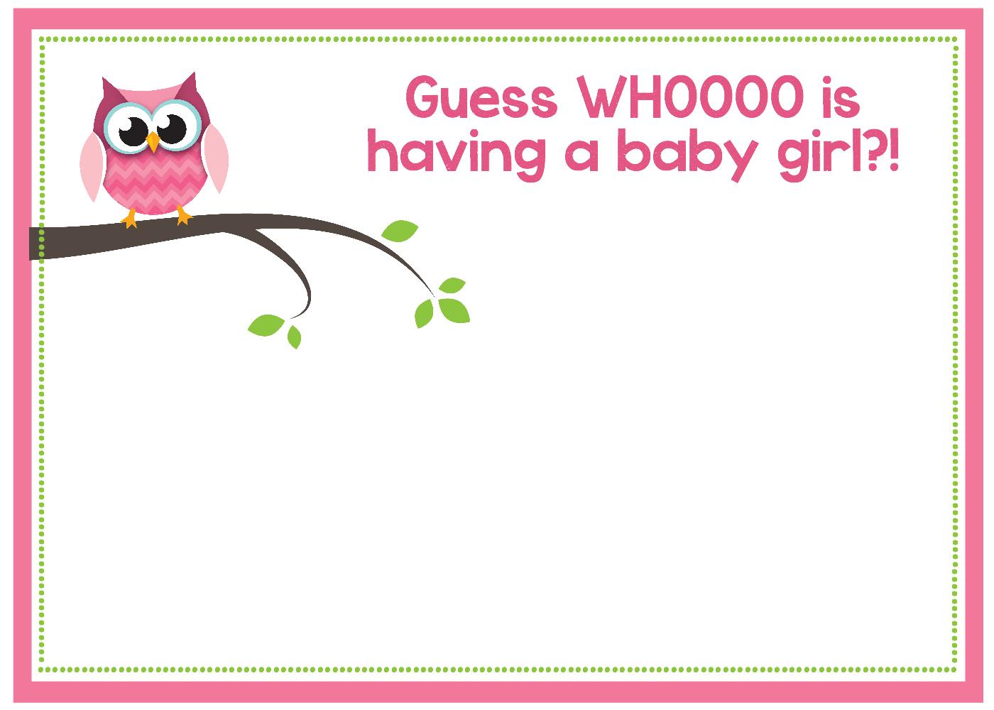 Free Printable Owl Baby Shower Invitations {& Other Printables} - Free Printable Baby Shower Invitations