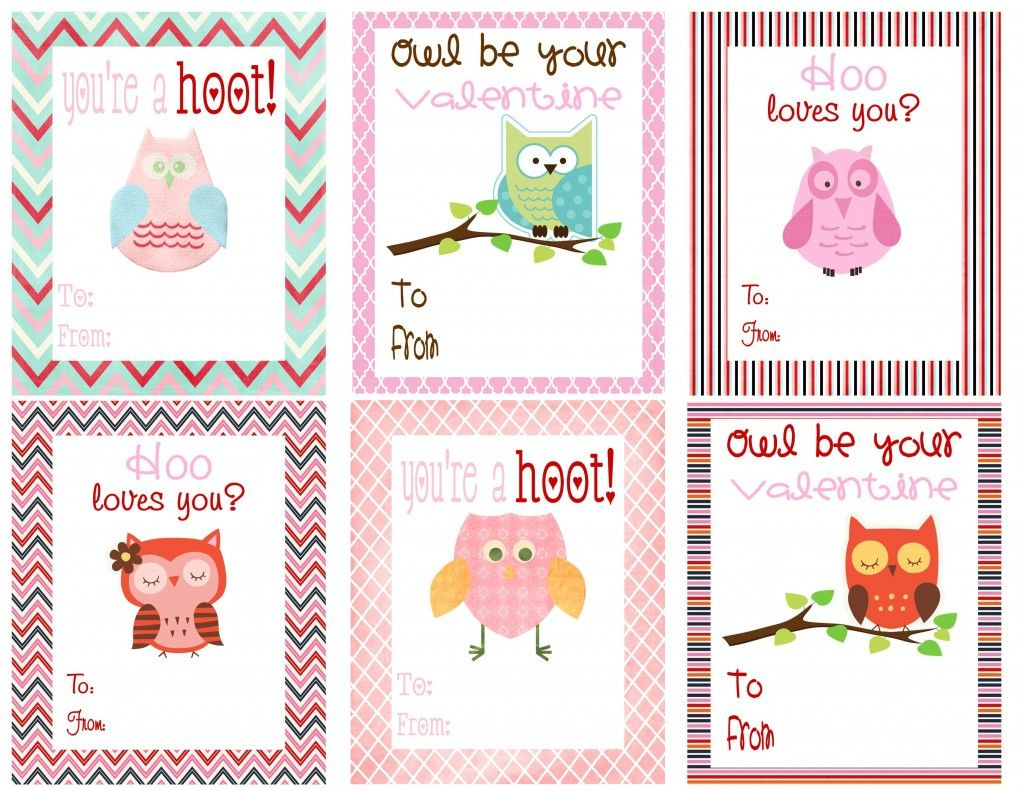 Free Printable Owl Themed Valentines | Deal Wise Mommy | Coupons - Free Printable Owl Valentine Cards