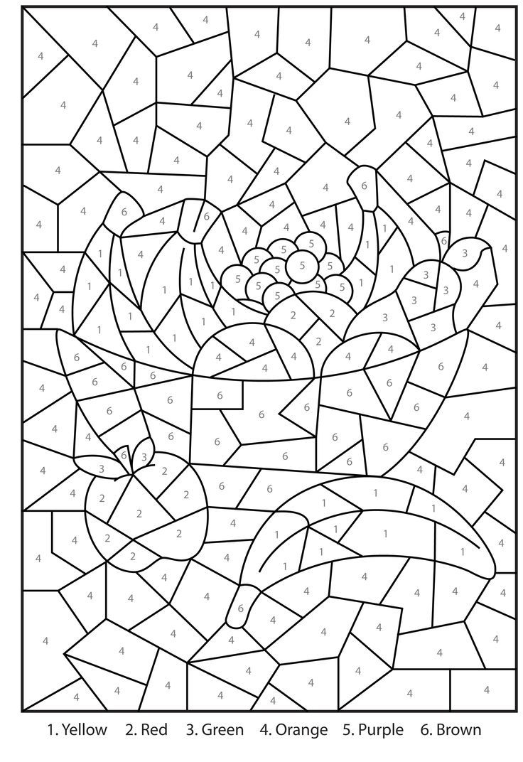 Free Printable Paintnumbers For Adults - Coloring Home - Free Printable Paint By Number Coloring Pages