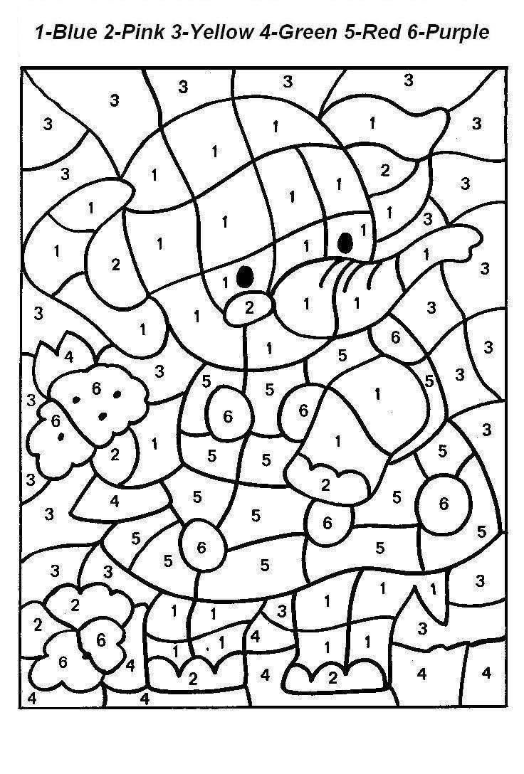 Free Printable Paintnumbers For Adults Coloring Home - Free Printable Paint By Number Coloring Pages