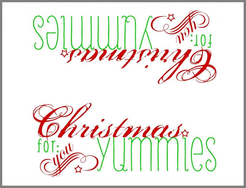 Free Printable: Paper Bag Topper   Winter & Christmas   Christmas - Free Printable Christmas Bag Toppers