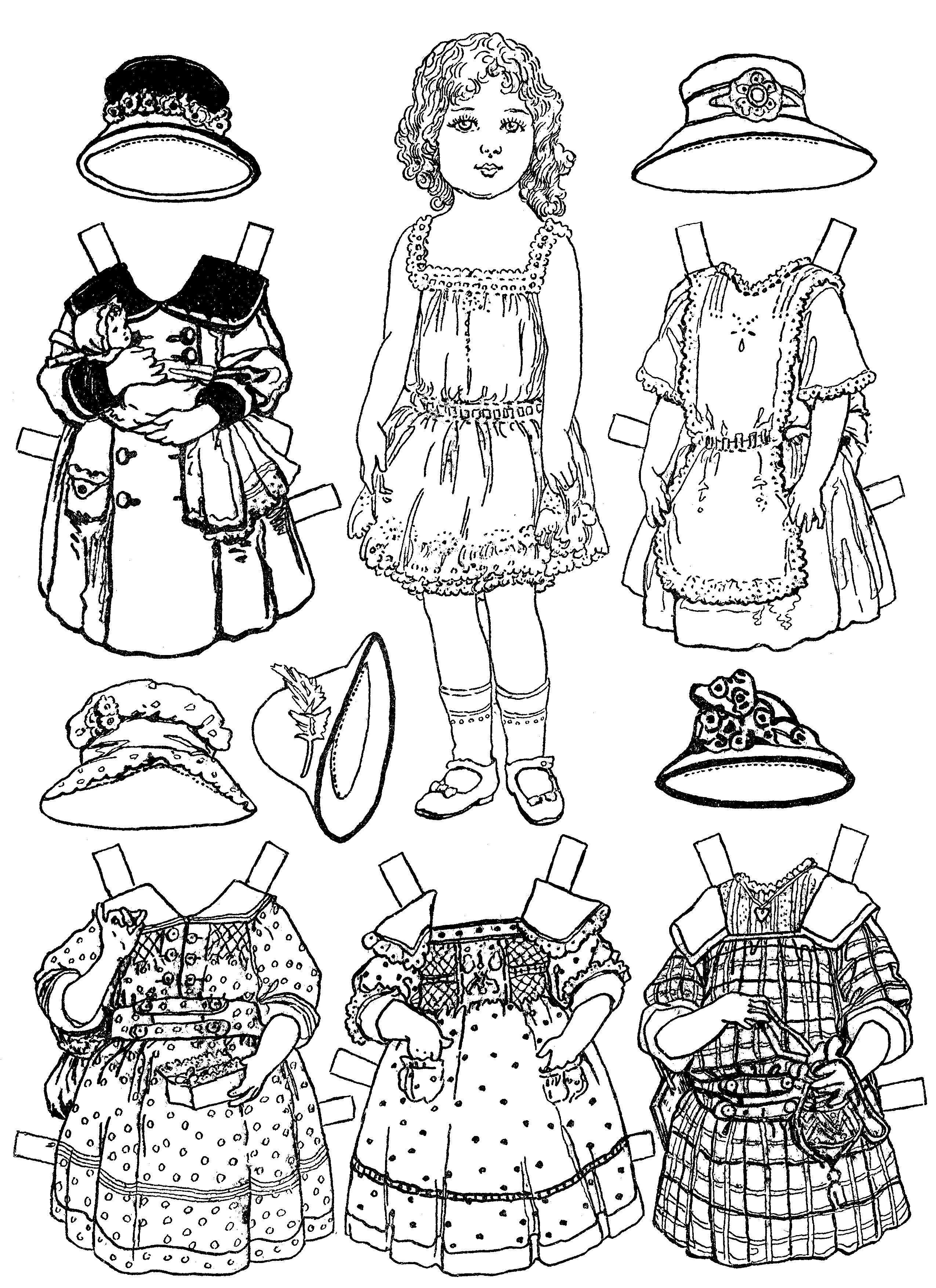 Free Printable Paper Doll Coloring Pages For Kids | Paper Dolls - Free Printable Paper Doll Coloring Pages