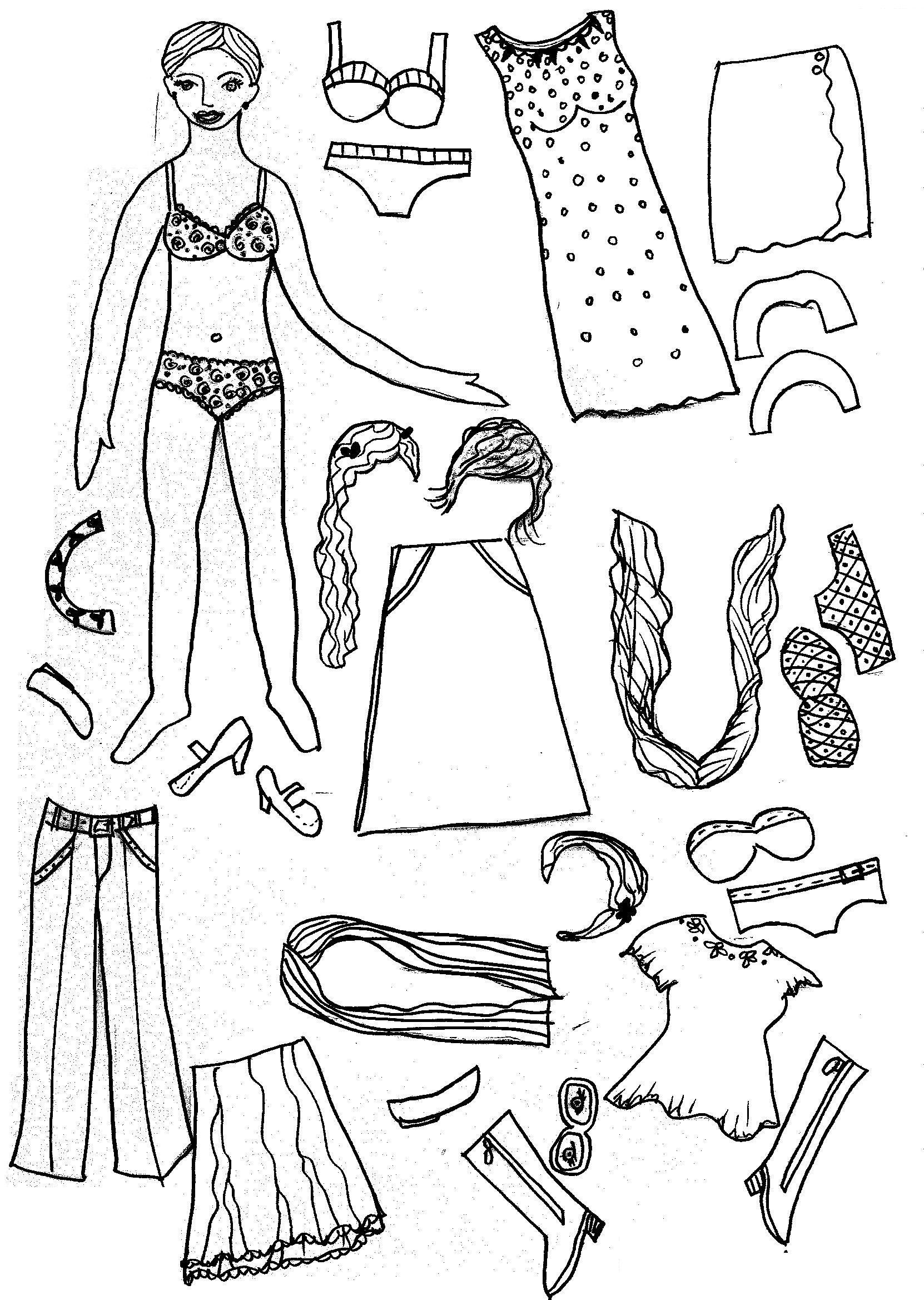 Free Printable Paper Doll Coloring Pages For Kids Pertaining To - Free Printable Paper Doll Coloring Pages