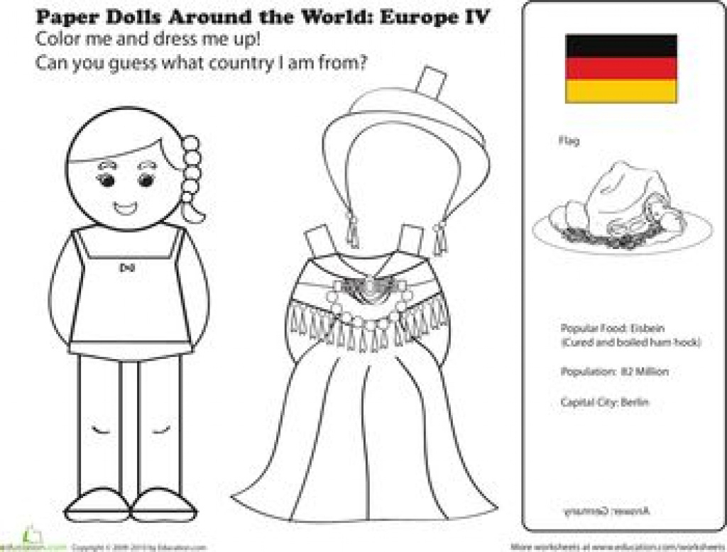 Free Printable Paper Dolls From Around The World - Printable 360 - Free Printable Paper Dolls From Around The World