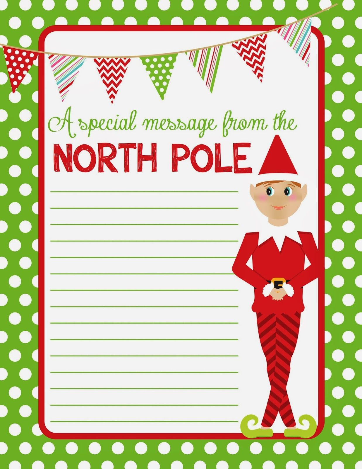 Free Printable Paper Elf - 2.13.kaartenstemp.nl • - Free Printable Elf Stationery