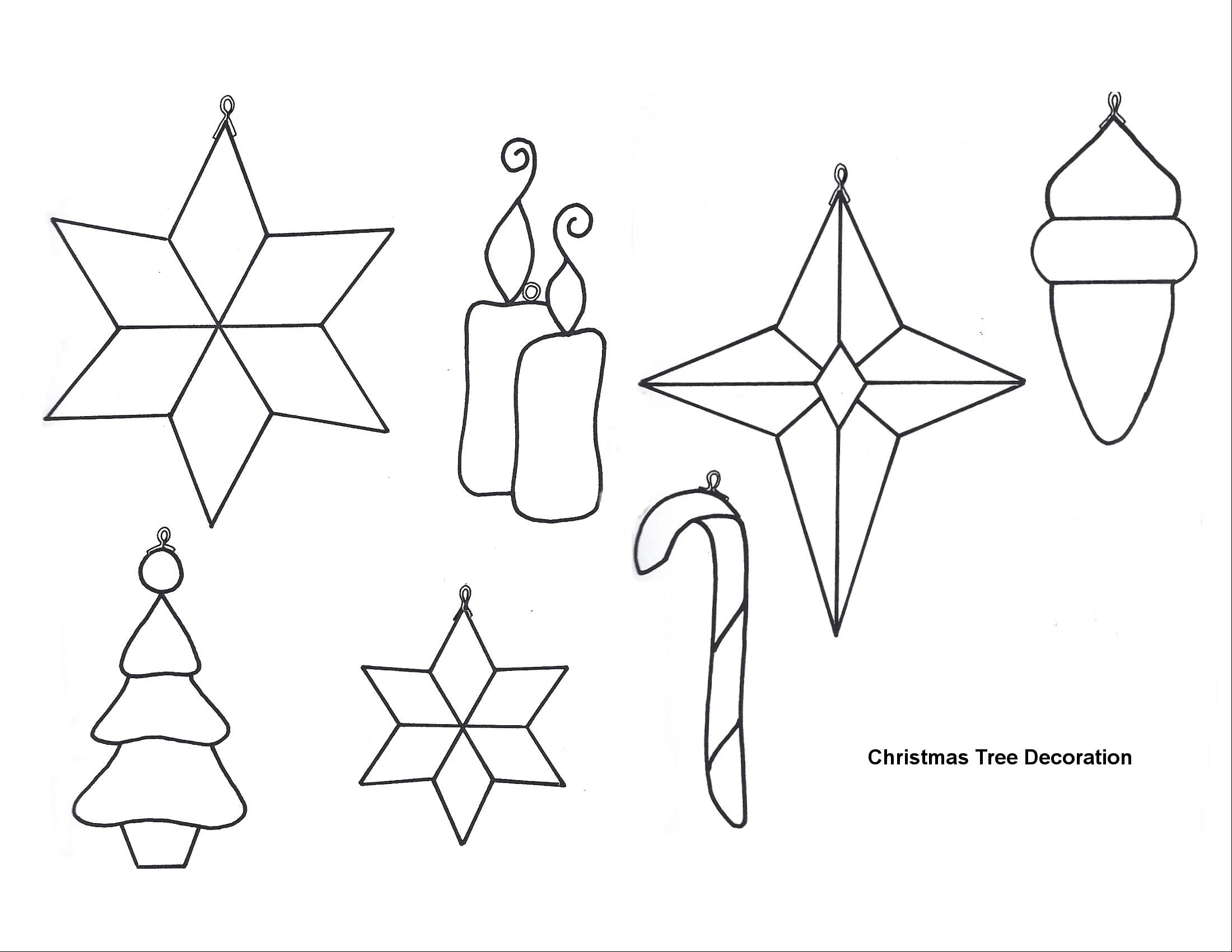Free Printable Papercraft Templates. Felt Christmas Patterns - Free Printable Stained Glass Patterns