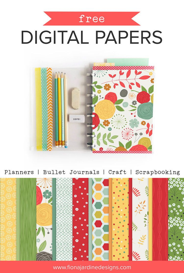 Free Printable Papers For Planners, Craft And Scrapbooking | Digital - Baby Scrapbook Templates Free Printable