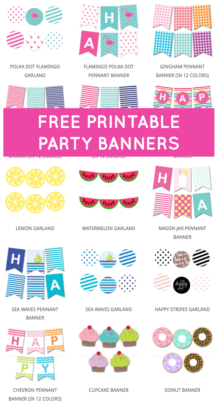 Free Printable Party Banners From @chicfetti | Paw Patrol Party - Diy Birthday Banner Free Printable