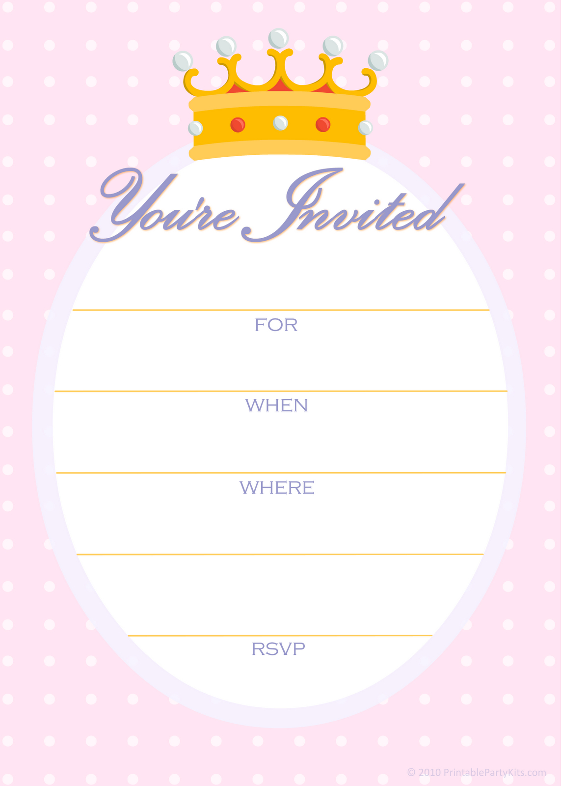 Free Printable Party Invitations: Free Invitations For A Princess - Free Printable Princess Invitations