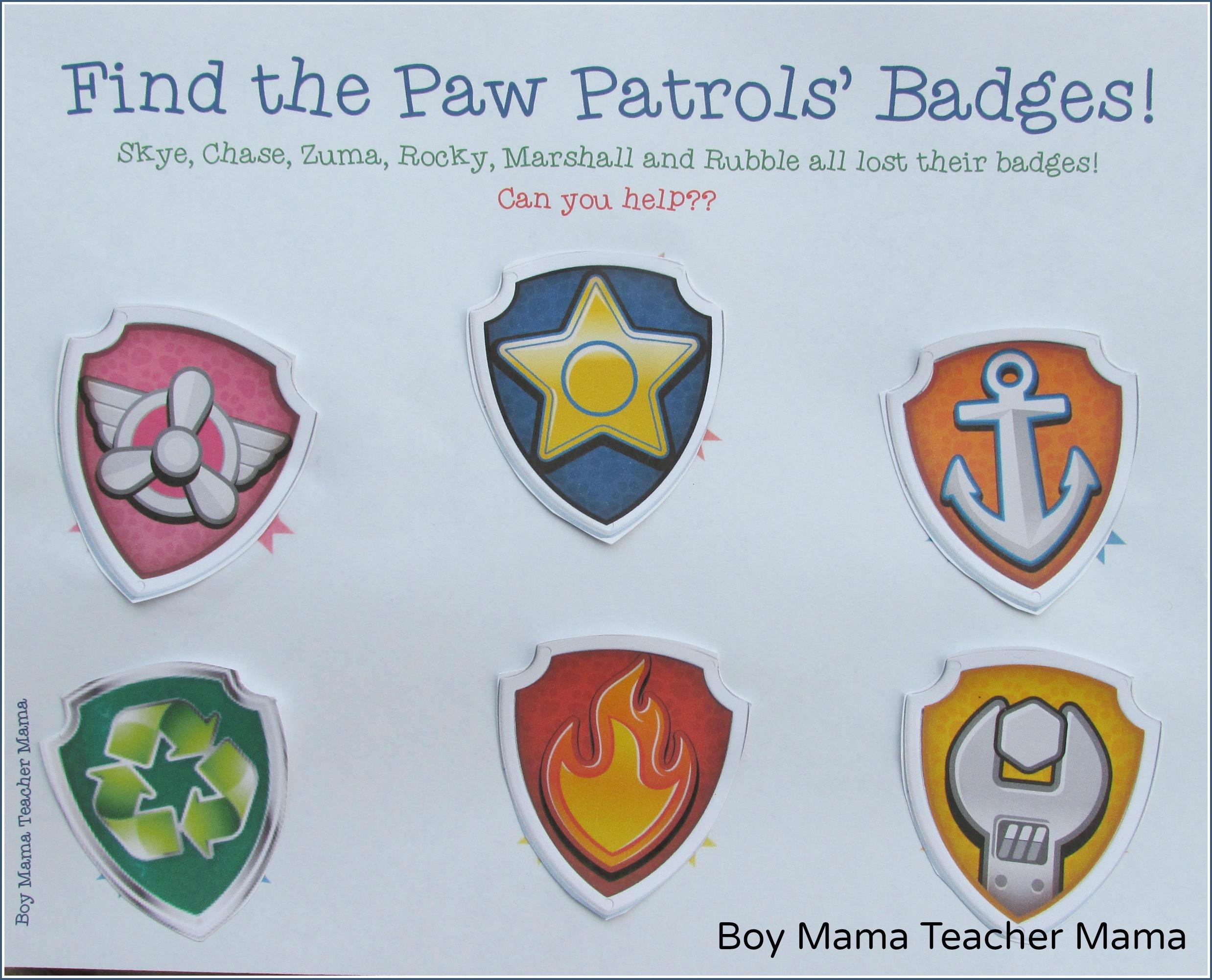 Free Printable Paw Patrol Badges   Fiscalreform - Free Printable Badges